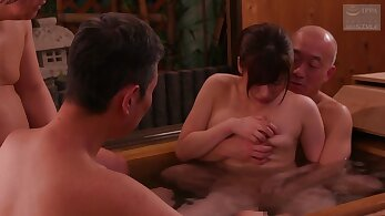 Nipponese lustful hussy incredible gangbang clip